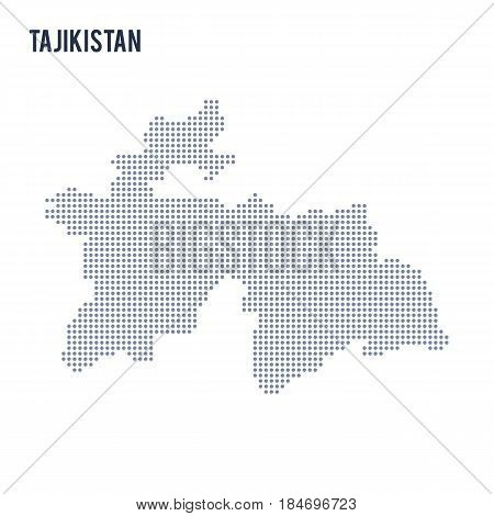Vector dotted map of Tajikistan isolated on white background . Travel vector illustration