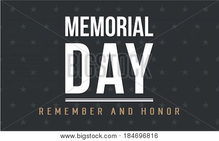 Background of memorial day vector art collection stock