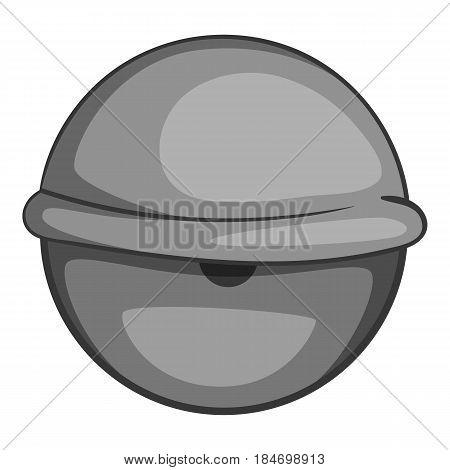 Bloodshot eyeball icon in monochrome style isolated on white background vector illustration
