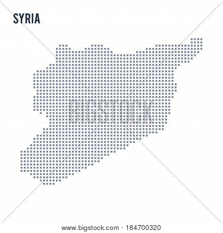 Vector pixel map of Syria isolated on white background . Travel vector illustration