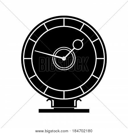 Celestial clock ( shade picture ) on white