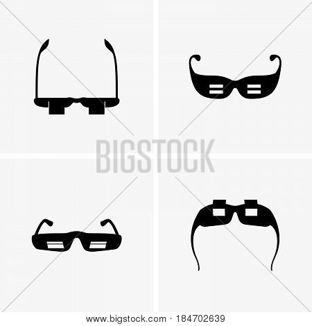Set of four supine reading glasses ( shade pictures )