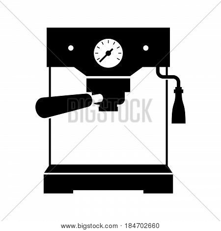 Espresso machine ( shade picture ) on white