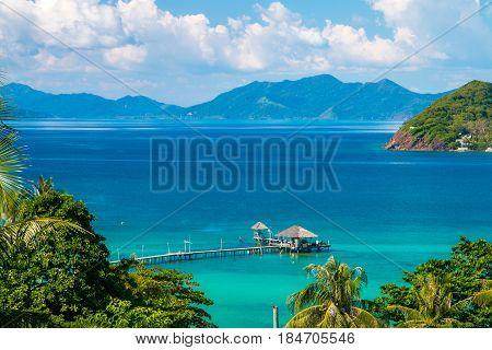 Koh Mak Island Viewpoint at Trat in Thailand Summer Season