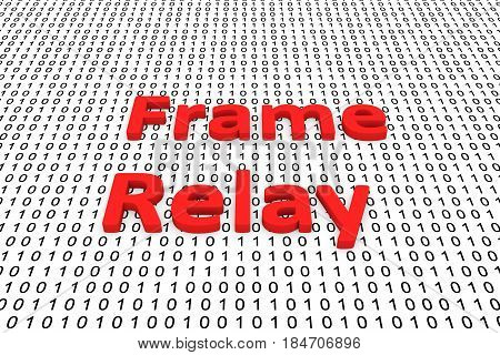 Frame relay in the form of binary code, 3D illustration