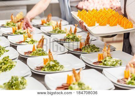 Cook Prepare Appetizer Dish