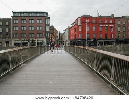 River Liffey In Dublin