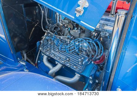 Ford Hot Rod Engine On Display