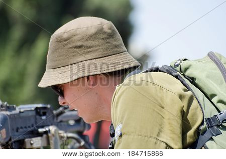 Unidentified Israeli Soldier At Latrun Armored Corps Museum