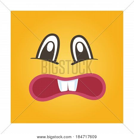 Embarrassed smiley face vector icon. Funny facial expression emoji, cute comic emoticon isolated vector illustration.