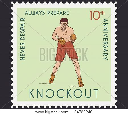 Vector boxing knockout concept for any use