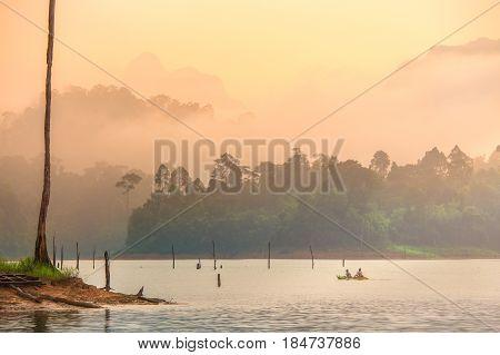Kayak at Surat Thani Province, southern Thailand Summer Season