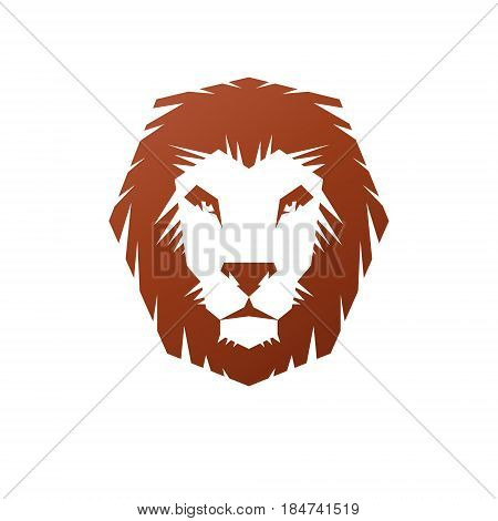 Lion Face Heraldic Animal Element. Heraldic Coat Of Arms Decorative Logo Isolated Vector Illustratio