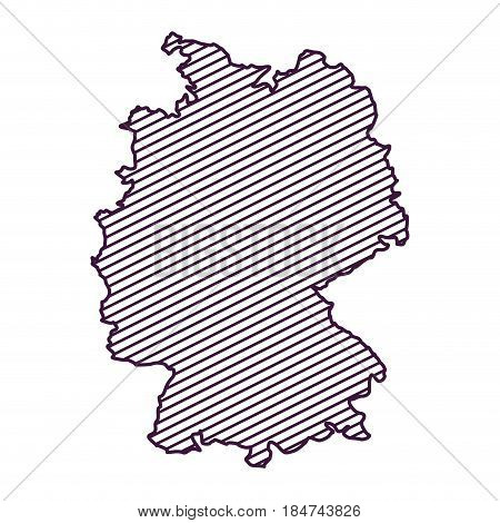 Map and cartography icon. Germany europe and landmark theme. Silhouette design. Vector illustration