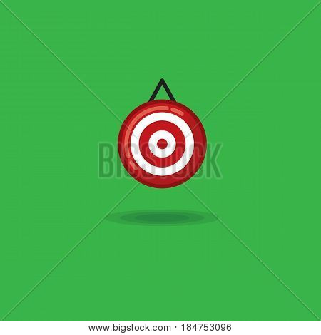 Vector illustration target on a green background. Illustration of a target, archery