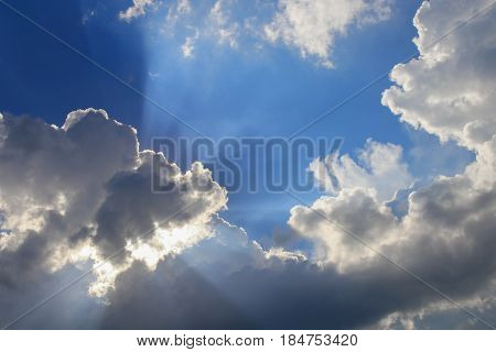 blue sky vivid with cloud and raincloud art of nature beautiful and copy space for add text