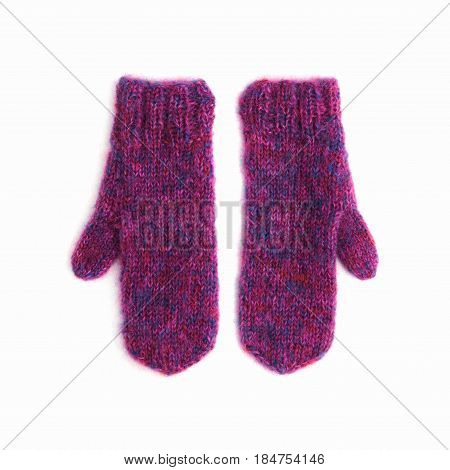 Pair Of Purple Mohair Gloves