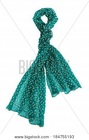 Green Tulle Scarf
