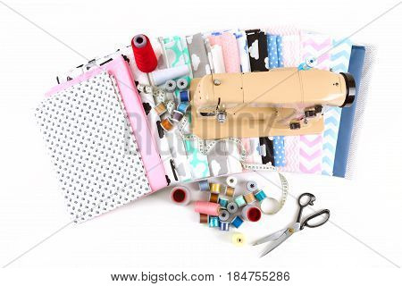 Sewing Machine, Fabric And Tailor Tools