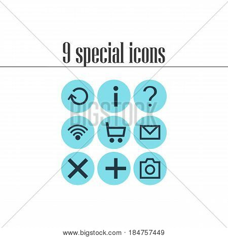 Vector Illustration Of 9 Member Icons. Editable Pack Of Snapshot, Letter, Wrong And Other Elements.