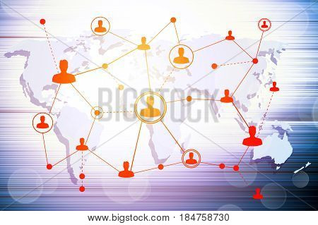 Social networking technologies. Social media concept background