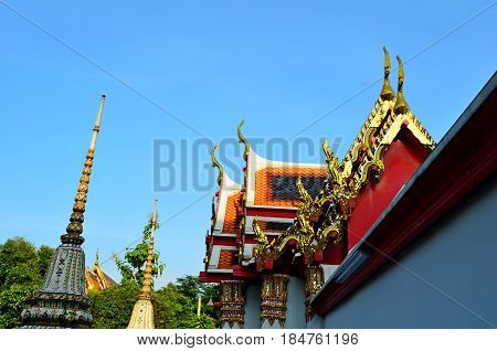 Temple Architectural complex of Buddhism, striking with its exquisite beauty and architecture of buildings, the temple is decorated with flowers, secret signs. Holy symbols and drawings call pilgrims to the knowledge of mystical knowledge and the philosop