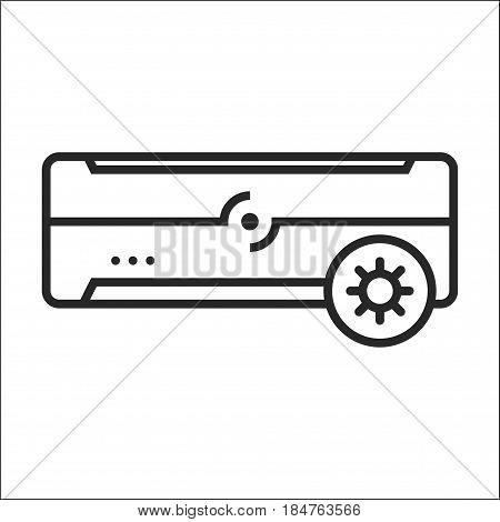 Air Conditioner Hot Mode Vector Icon