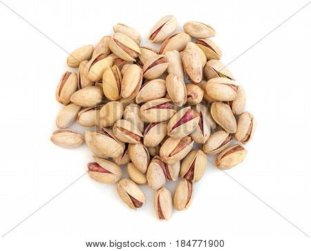 Heap Of Salted Pistachios Isolated