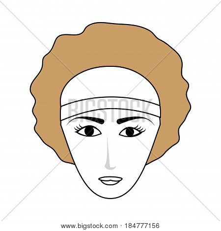 young pretty woman wearing visor icon image vector illustration design