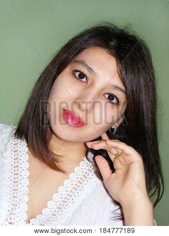 photography with scene of the beautiful uzbek girl