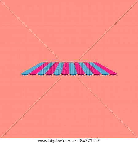 Icon in flat design Roof awning furniture