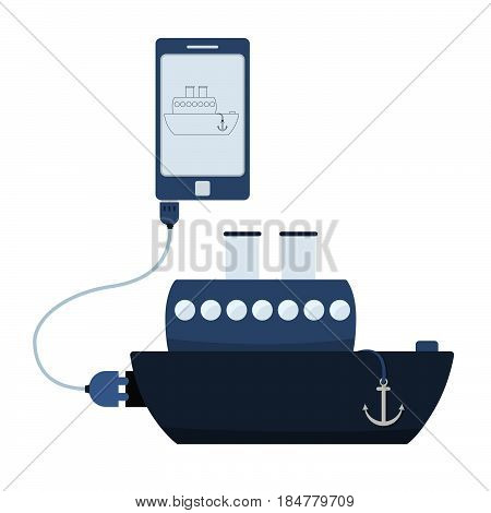 Ship Automation Using Cell Phone