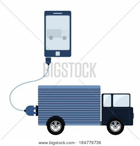Truck Automation Using Cell Phone