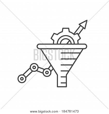 Conversion Rate Optimization - vector illustration. Sales funnel vector line icon. Internet marketing conversion concept.