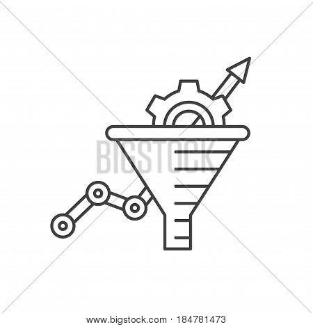 Conversion Rate Optimization - vector illustration. Sales funnel vector line icon. Internet marketing conversion concept.