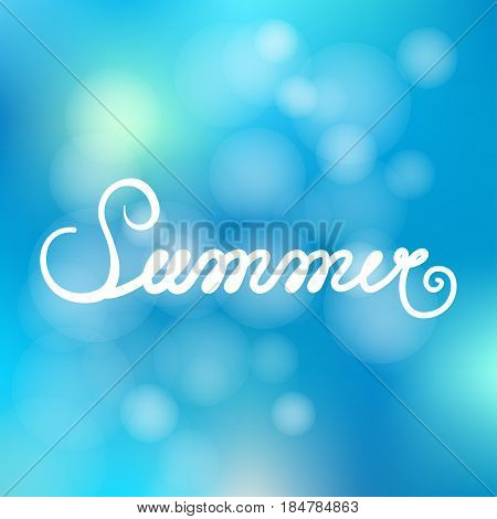 Written inscription with a brush. Lettering summer. Hand drawn elements for Summer calligraphic design. Handwritten caligraphy word.