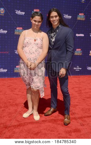 LOS ANGELES - APR 29:  Sage Stewart, Booboo Stewart at the 2017 Radio Disney Music Awards at the Microsoft Theater on April 29, 2017 in Los Angeles, CA