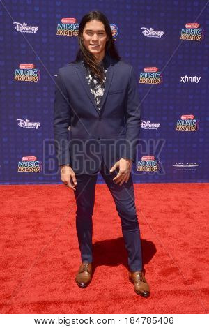 LOS ANGELES - APR 29:  Booboo Stewart at the 2017 Radio Disney Music Awards at the Microsoft Theater on April 29, 2017 in Los Angeles, CA