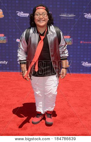 LOS ANGELES - APR 29:  Nathan Arenas at the 2017 Radio Disney Music Awards at the Microsoft Theater on April 29, 2017 in Los Angeles, CA
