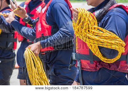 keep rope line rescue help water rescue