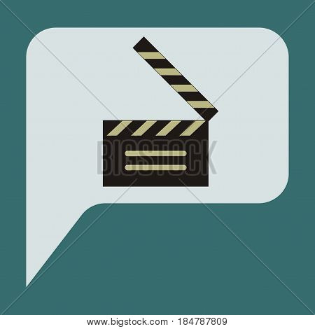 Vector illustration of flat icon film slapstick