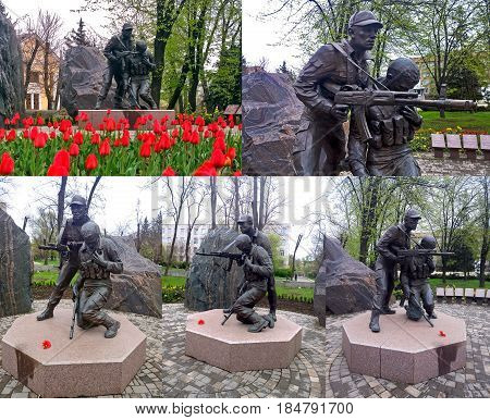City public monument that perpetuates the memory of the dead soldiers in the war in Afghanistan located in the city of Krivoi Rog in Ukraine