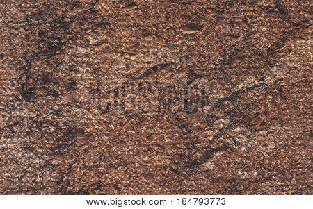 Brown and red background with concrete texture horizontal top view isolated vintage dark bronze backdrop old rustic stone board space blank back on the table mockup brick nuture wall