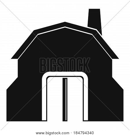 Blacksmith workshop building icon in simple style isolated vector illustration