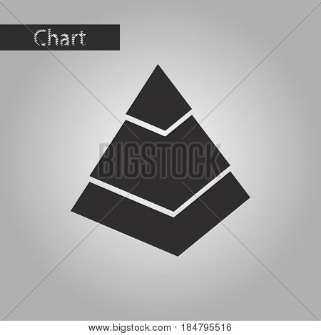 black and white style icon Economic pyramid