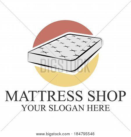 Mattress logo template design vector eps 10