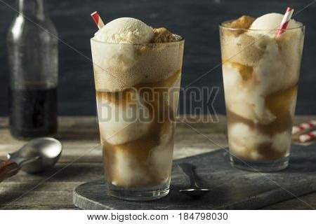 Homemade Soda Black Cow Ice Cream Float
