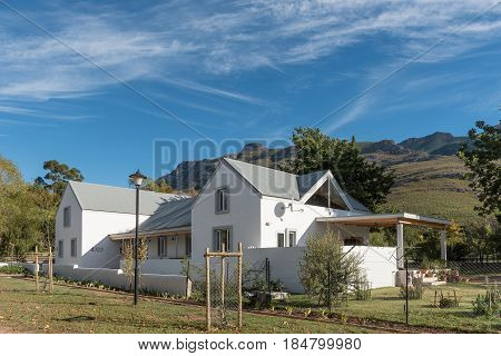 GREYTON SOUTH AFRICA - MARCH 27 2017: An old house in Greyton a small town in the Western Cape Province of South Africa