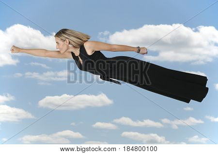 Falling Or Flying Woman