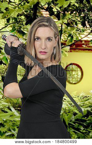 Woman Samurai Swordsman